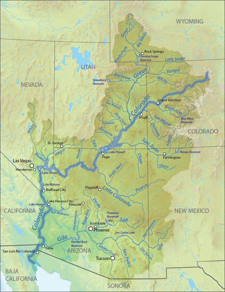 Map of Colorado River Basin Source: http://en.wikipedia.org/wiki/Colorado_River