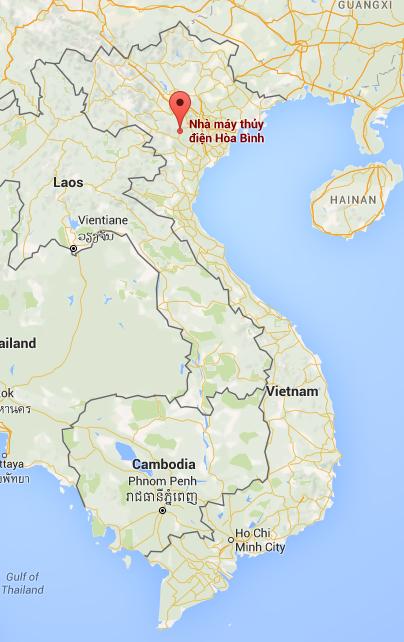 Hoa Binh Dam in Vietnam