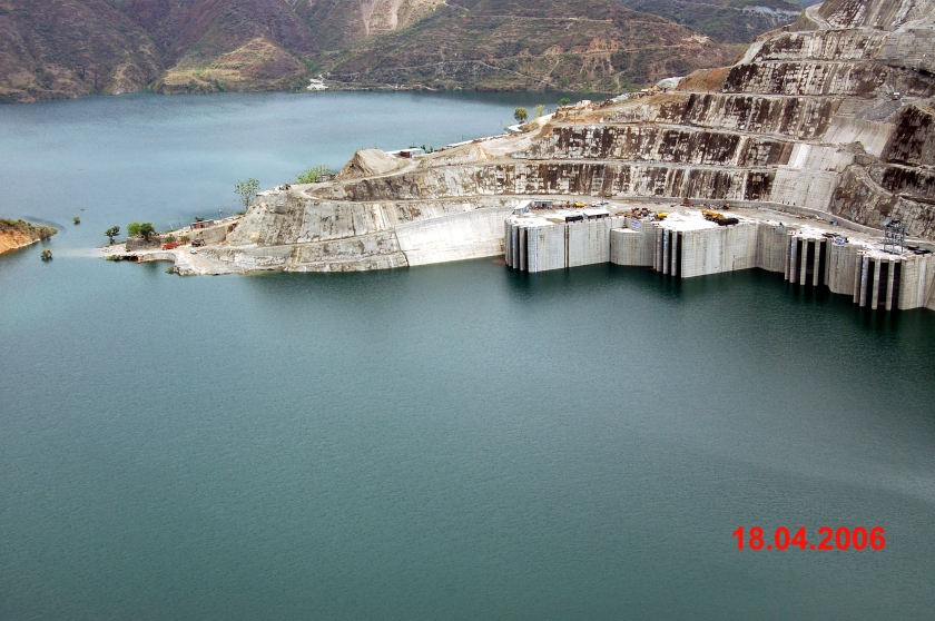 Tehri dam reservoir (Water Resources Information System of India 2012)