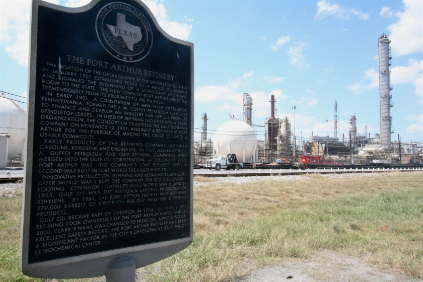 Refineries have established themselves in Port Arthur's history